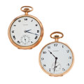 Timepieces:Pocket (post 1900), Two E. Howard 12 Size Pocket Watches Runners. ... (Total: 2 Items)
