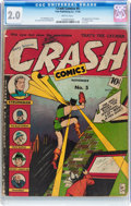 Golden Age (1938-1955):Superhero, Crash Comics #5 (Tem Publishing Co., 1940) CGC GD 2.0 Brittle pages....