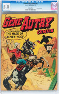Golden Age (1938-1955):Western, Gene Autry Comics #1 (Fawcett Publications, 1942) CGC VG/FN 5.0Cream pages....