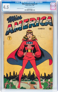 Miss America Comics #1 (Timely, 1944) CGC VG+ 4.5 Cream to off-white pages