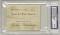 """Autographs:Index Cards, 1910 Christy Mathewson Signed Book Plate. """"Mathewson was the greatest pitcher who ever lived,"""" Connie Mack once explained. ..."""