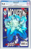 Modern Age (1980-Present):Superhero, Wolverine #100 Hologram Cover Variant (Marvel, 1996) CGC NM/MT 9.8White pages....