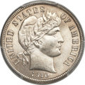 Barber Dimes, 1910-S 10C MS66+ PCGS. CAC....