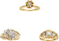 Estate Jewelry:Rings, Diamond, Gold Rings. ... (Total: 3 Items)