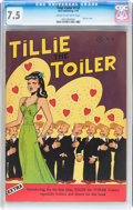 Golden Age (1938-1955):Humor, Four Color #132 Tillie the Toiler (Dell, 1947) CGC VF- 7.5 Cream to off-white pages....