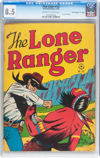 """Four Color #125 The Lone Ranger - Davis Crippen (""""D"""" Copy) pedigree (Dell, 1946) CGC VF+ 8.5 Off-white to whit..."""