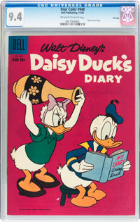 Four Color #948 Daisy Duck's Diary - File Copy (Dell, 1958) CGC NM 9.4 Off-white to white pages