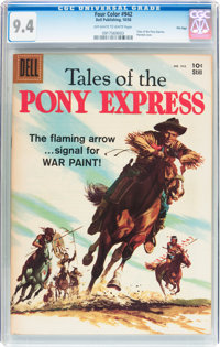 Four Color #942 Tales of the Pony Express - File Copy (Dell, 1958) CGC NM 9.4 Off-white to white pages