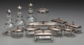 Silver Holloware, French:Holloware, A SET OF TWELVE FRENCH SILVER, SILVER GILT AND CUT-GLASS VANITYARTICLES, circa 1880. Marks: (Minerva), (AIME-3- needle). 7-...(Total: 24 Items)