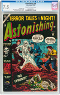 Golden Age (1938-1955):Horror, Astonishing #28 (Atlas, 1953) CGC VF- 7.5 Cream to off-whitepages....
