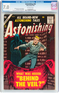 Golden Age (1938-1955):Horror, Astonishing #59 (Atlas, 1957) CGC FN/VF 7.0 Off-white pages....