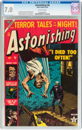 Golden Age (1938-1955):Horror, Astonishing #26 (Atlas, 1953) CGC FN/VF 7.0 Off-white pages....