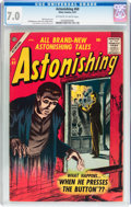 Silver Age (1956-1969):Horror, Astonishing #60 (Atlas, 1957) CGC FN/VF 7.0 Off-white to whitepages....