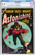 Golden Age (1938-1955):Horror, Astonishing #32 (Atlas, 1954) CGC FN- 5.5 Cream to off-whitepages....