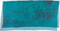 "Luxury Accessories:Accessories, Hermes 140cm Teal ""Hermes a Beverly Hills,"" by Benoît-Pierre EmerySilk Mousseline Scarf. ..."