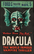 "Movie Posters:Horror, Dracula (Stage Play, 1928). Window Card (13.75"" X 21.75""). Horror....."