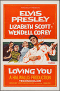 "Movie Posters:Elvis Presley, Loving You (Paramount, 1957). One Sheet (27"" X 41""). ElvisPresley.. ..."