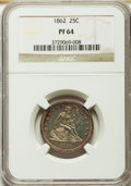 Proof Seated Quarters, 1862 25C PR64 NGC. Briggs 5-E....