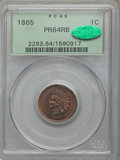 Proof Indian Cents: , 1865 1C PR64 Red and Brown PCGS. CAC. PCGS Population (71/29). NGC Census: (34/38). Mintage: 500. Numismedia Wsl. Price for...