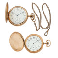 Timepieces:Pocket (post 1900), Two Waltham's 17 Jewels Hunter's Case Pocket Watches. ... (Total: 2Items)