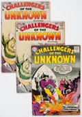 Silver Age (1956-1969):Superhero, Challengers of the Unknown Group (DC, 1958-61) Condition: Average GD-.... (Total: 21 Comic Books)