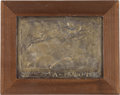 Paintings, 1938 TARGA FLORIO COPPER RELIEF COMPETITOR'S PLAQUE. 1938. Image size - 10-3/4 x 15 inches (27.3 x 38.1 cm). ...