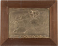 Paintings, 1939 TARGA FLORIO COPPER RELIEF COMPETITOR'S PLAQUE. 1939. Image size - 10-3/4 x 15 inches (27.3 x 38.1 cm). ...