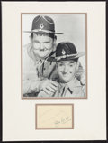 "Movie Posters:Comedy, Laurel and Hardy (1952). Framed Photo (8"" X 10"") and Signature.Comedy.. ..."