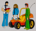 Animation Art:Production Cel, Speed Buggy and Friends Production Cel Setup Animation Art(Hanna-Barbera, 1973).... (Total: 3 Original Art)
