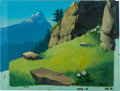 Animation Art:Painted cel background, Heidi's Song Painted Production Background and Overlay SetupAnimation Art (Hanna-Barbera, 1983).... (Total: 2 Original Art)