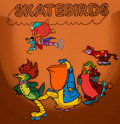 Animation Art:Presentation Cel, Skatebirds The Robonic Stooges and Animated Skatebirds Publicity Cel Animation Art (Hanna-Barbera, 1977).... (Total: 3 Original Art)