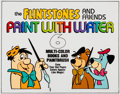 Animation Art:Production Drawing, Flintstones and Friends Paint With Water Cover IllustrationCel Yogi Bear, Huckleberry Hound Animation Art Illustratio...