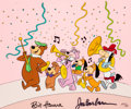 Animation Art:Seriograph, Yogi's Parade Yogi Bear, Boo-Boo, Snagglepuss, and OthersLimited Edition Cel Animation Art AP #6/20 (Hanna-Barbera, 1...