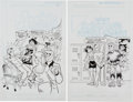 Original Comic Art:Covers, Stan Goldberg and Bob Smith Archie's Pals 'n' Gals DoubleDigest #78 and Archie and Friend #81 Cover O... (Total:2 Original Art)