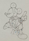 Animation Art:Production Drawing, Mickey's Amateurs Mickey Mouse Production Drawing AnimationArt (Walt Disney, 1937). ...