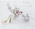 Animation Art:Production Drawing, X-Men: The Animated Series Production Layout DrawingWolverine, Gambit, and Rogue Animation Art Group (SabanEntertain... (Total: 2 Original Art)