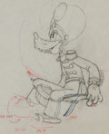 Animation Art:Production Drawing, Mickey's Amateurs Goofy Production Drawing Animation Art(Walt Disney, 1937). ...