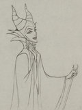 Animation Art:Production Drawing, Sleeping Beauty Maleficent with Staff Production Drawing (Walt Disney, 1959)....