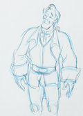 Animation Art:Production Drawing, Beauty and the Beast Gaston Production Drawing Animation Art (WaltDisney, 1991)....