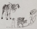 Animation Art:Production Drawing, The Small One Concept Drawing Animation Art (Walt Disney, 1978)....