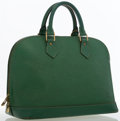 Luxury Accessories:Bags, Louis Vuitton Green Epi Leather Alma PM Bag. ...