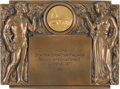 Paintings, BRONZE STAMPA SPORTIVA RALLY INTERNATIONAL PLAQUE. 1960. 8 x 10-1/2 inches (20.3 x 26.7 cm). ...