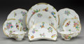 Ceramics & Porcelain, A SIXTY PIECE HEREND PORCELAIN QUEEN VICTORIA PATTERN DINNER SERVICE, 20th century. Marks: HEREND, HUNGARY, HA... (Total: 60 Items)
