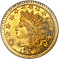 California Fractional Gold , 1868 50C Indian Round 50 Cents, BG-1074, R.6, MS65+ PCGS....