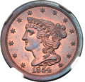 Proof Braided Hair Half Cents, 1854 1/2 C PR65 Red and Brown NGC. B-2, Low R.6....