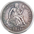 Seated Dimes, 1874-CC 10C Arrows -- Repaired -- PCGS Genuine. XF Details. Fortin-101....