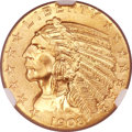 Indian Half Eagles, 1908-S $5 MS65 NGC....