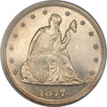 Proof Twenty Cent Pieces, 1877 20C PR65 Cameo PCGS. CAC....