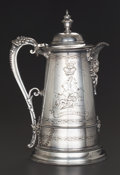 Silver Holloware, British:Holloware, A VICTORIAN SILVER-PLATED HOT WATER KETTLE, circa 1875. Marks:JR., &, S, (leopard's head), EP, BY HER MAJESTY ROYALL...