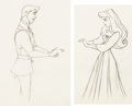 Animation Art:Production Drawing, Sleeping Beauty Briar Rose and Prince Phillip ProductionDrawing Matched Set Animation Art Group (Walt Disney, 1959)....(Total: 2 Original Art)